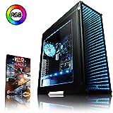 VIBOX Nebula GSR560-16 Gaming PC Ordenador de sobremesa con Cupón de Juego (3,9GHz AMD Ryzen Quad-Core Procesador, Gráficos Radeon Vega Integrados, 16GB DDR4 RAM, 1TB HDD, Ningún Sistema operativo)