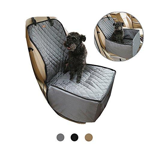2en 1pour animal domestique Housse de siège avec ceinture de sécurité gratuit, Deluxe imperméable pour chien Hamac de voyage de protection pour siège arrière, épais antidérapant résistant aux rayures pour animal domestique Seau Rehausseur