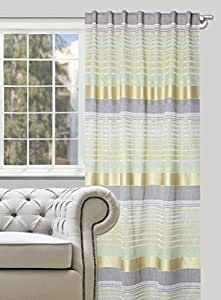 140x245 grün Vorhang Vorhänge Schlaufenschal Fensterdekoration Streifen glänzend