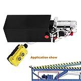 Autovictoria Bomba Hidraulica De Doble Efecto Bomba Hidraulica 12V Dump Trailer 10L Reservoir Controlado Remotamente (10L)
