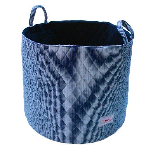 Minene 1538 Aufbewahrungskorb, groß, blau/weiß Streifen