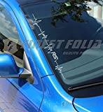 F62 RS Herzschlag Frontscheibenaufkleber von FINEST-FOLIA Audi RS1 RS3 RS4 RS5 RS6 RS7 Ford Focus RS Renault Megane RS