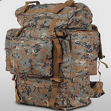 ZHUDJ 100 L Wandern & Trekking Pack Laptop Pack Gepäck Reisen Duffel Rucksack Freizeit Sport Camping & Wandern Reisen Läuft Camouflage Brown