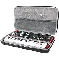 co2CREA Voyage Stockage Porter Étui Housse pour AKAI Pro MPK Mini MkII Clavier Maître MIDI/USB 25 Touches Sensibles à la Vélocité avec 47 Pads et Joystick 4 Voies