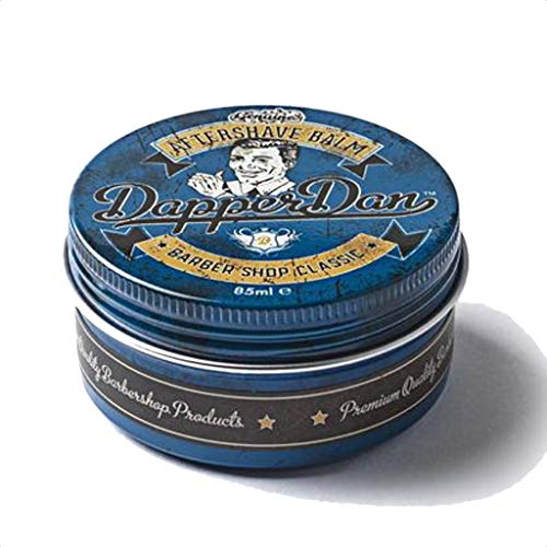 Classic Barbershop Aftershave Balm By Dapper Dan, Soothes And Moisturises, Eucalyptus & Menthol Fragrance 85ml