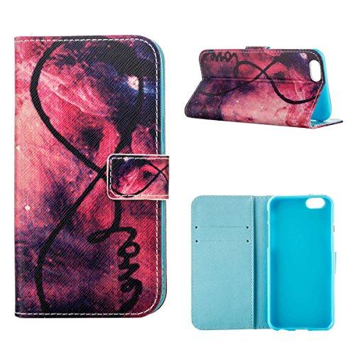 """MOONCASE Étui pour iPhone 6 / 6S (4.7"""") Cuir Coque en Portefeuille Protection Housse de Étui à rabat Case RX04 RX20 #0308"""