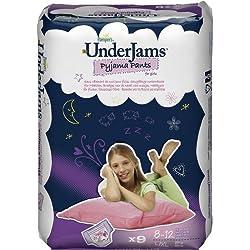 Pampers UnderJams - Pañales para niñas, talla L / XL, 27+ kg, 4-pack (4 x 9 pañales)