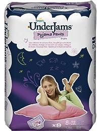 Pampers Underjams Sous-Vêtements de Nuit Absorbants Filles Taille 8 (L/XL) 27+ kg (4x9)