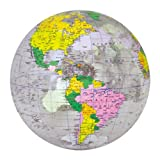 Wasserball aufblasbar - Wasserspielzeug - 40cm - Politische Weltkarte - Kinderspielzeug