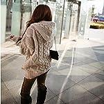 Aleumdr Strickjacke Damen Grobstrick Strickmantel strickcardigan Damen Herbst Winter Casual Open Front Sweater Cardigan Cover Up Patchwork Outwear S-XXL 6