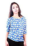 AR2 BLUE FLORAL SEQUINED TOP