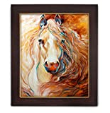 #5: TIED RIBBONS® Horse in Rush Canvas Print with Frame Large (26 inch X 22 inch,Multicolor)