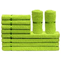 Story at Home Face Towel Set, Green, TW1203-S, 10 Pieces