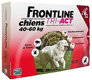 FRONTLINE Tri Act pour Très grand Chien 40-60 kg 6 Pipettes