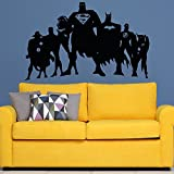 #10: Paper Plane Design Justice League Fan Art Wall Decal. Vinyl, 48 inch x 36 inch Multicolour.