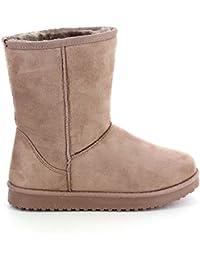 Bottines style boots intérieur fourré