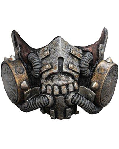 Latex Gasmaske SciFi Halbmaske (Futuristischer Soldat Kostüm)