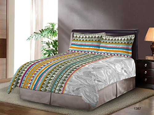 Bombay Dyeing Festiva 144 TC Cotton Double Bedsheet with 2 Pillow Covers - Green