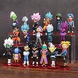 LOTE de 18 figuras de Dragon Ball DBZ DBS DB GT PVC personajes de Goku Vegeta Zamasu Trunks Zeno...