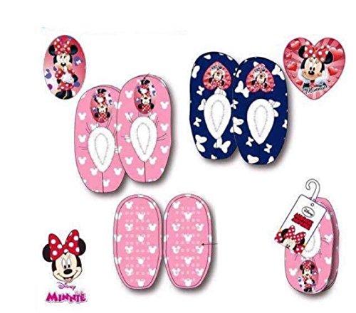 Générique Chaussons Elastique enfant Fille Disney Minnie Mouse en Bleu - HQ0853