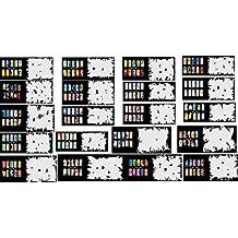 Plantilla de uñas reutilizables aerógrafo 400 DESIGNS - 20 juego de papel para patrones 10
