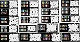 ABEST verkauf Wiederverwendbarer Airbrush Nail Art Schablone 400 DESIGNS - 20 Blätter Kit Vorlagensatz 10