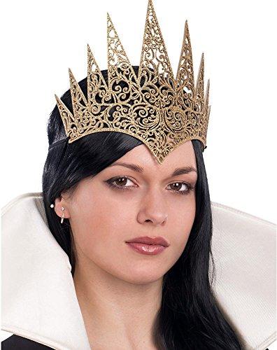 Königin Dunkle Kostüm (Goldene Gothic-Krone -Halloween)