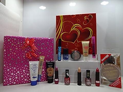 Rimmel London Beauty Make Up Gift Box ~ 15pc Rimmel London Make Up Products In Gift Box Gift Wrapped ....410....