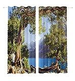 Lemare Vorhang Blickdicht Digitaldruck Bergsee 2X 145x260 cm