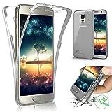 Kompatibel mit Galaxy S4 Hülle Schutzhülle Case,Full-Body 360 Grad Klar Durchsichtige TPU Silikon Hülle Handyhülle Tasche Case Front Back Double Beidseitiger Cover Schutzhülle für Galaxy S4,Schwarz