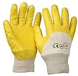 SBS® Nitrilhandschuhe Gr. 9 gelb mit Strickbund -12 Paar-