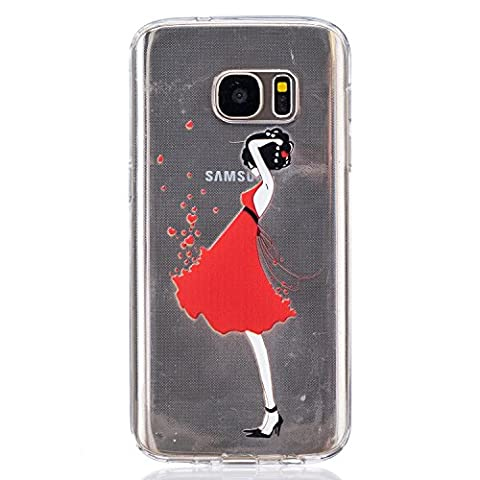 BONROY® Samsung Galaxy S7 Coque Housse Etui,Fashion Belle Ultra-Mince Thin Soft Silicone Etui de Protection pour Souple Gel TPU Bumper Poussiere Resistance Anti-Scratch Case Cover Couverture Pour Samsung Galaxy S7