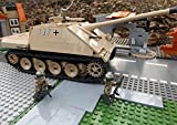 Modbrix ☠ Bausteine Panzer Jagdpanther SD.Kfz 173 inkl Custom Minifiguren Wehrmacht Soldaten - Cobi Upgrade 2473 ☠