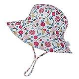 LACOFIA Cappello Regolabile da Sole per Neonata Berretto Estivo per Bambina con UPF 50+ Protezione Solare Tesa Larga per Nuoto Spiaggia Piscina 3-7 Anni