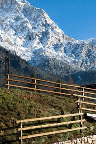view-of-a-stone-wall-and-fence-and-mountains-borca-di-cadore-italy-journal-150-page-lined-notebook-d