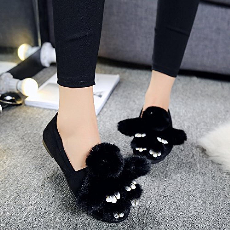 Y-Hui invierno zapatillas de algodón Zapatos Zapatos de patinaje plana,37 guisantes de primavera Código estándar...