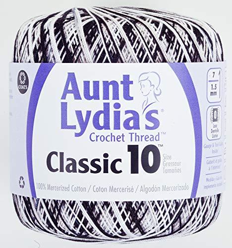 Crochet coton Classic de tante Lydia taille 10-Zebra