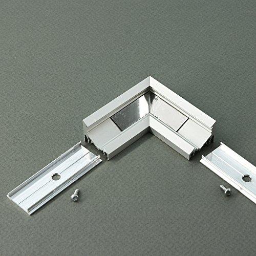Eckverbindung-T für LED Profile CORNER-T, Set mit 2 Profilverbindern