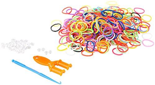 Playtastic Gummiringe: Gummibänder-Set, Nachfüllpack, 614 Teile (Loom Bänder)