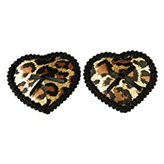 Idea Regalo - Czj-Innovation Riutilizzabile Nipple Cover Leopardo A forma di cuore