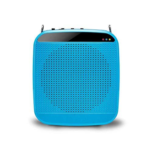 Mini-Sprachverstärker persönlichen beweglichen Lautsprecher-Mikrofon-Kopfhörer Wiederaufladbare System for Lehrer Reiseleiter Trainer Klassenzimmer Singen Yoga-Fitness-Lehrer 15W (Color : Blue) -