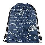 vintage cap Common Equations - Navy_43194 3D Print Drawstring Backpack Rucksack Shoulder Bags Gym Bag for Adult 16.9