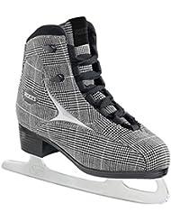 Roces Brits - Patines de hielo para mujer negro Check black, white silver Talla:38