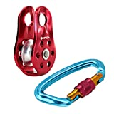 #7: Segolike Climbing Carabiner D-Ring Mountaineering Karabiner Safety Gear Equipment Caving Survival Tool + Rope Pulley