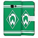 DeinDesign Samsung Galaxy A5 Duos 2016 Tasche Leder Flip Case Hülle Werder Bremen Fanartikel Fussball
