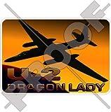 Lockheed U-2 Dragon Lady, Stinktier arbeitet USAF Gary Powers 90mm Auto & Motorrad Aufkleber, Vinyl Sticker