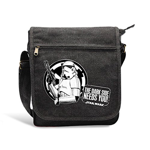 Star Wars Dark Side Tasche Tropper Umhängetasche Canvas 23 x 27 x 8cm anthrazit
