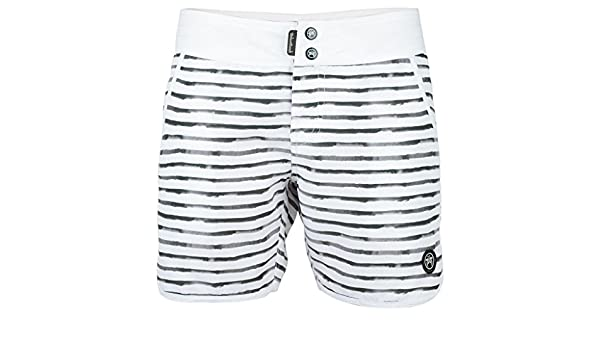 c1766b2589 ROC Board Shorts - White: Amazon.co.uk: Clothing