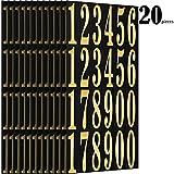 Chinco Numeri Adesivi Autoadesivi in Vinile Numeri in 0-9 Stampa e Stampaggio a Caldo per Fai da Te Artigianato Festa Decorazione, 13.4 per 7 Pollici (20)