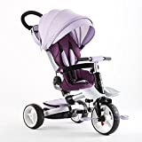 Giocattolo Portatile Triciclo per Bambini Pieghevole per Bambini - 4 Livelli Nero, Grigio, Verde, Arancio, Viola Pneumatico Ammortizzatore (Colore : Purple)